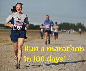 Run a marathon in 100 days